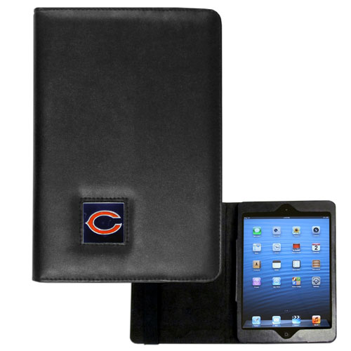 Chicago Bears NFL iPad Mini Case - The perfect Chicago Bears iPad mini accessory. The iPad mini slides easily into the inner sleeve that allows complete accessibility to all of the devices features and is the protected by the attractive out cover that can be secured closed or open while working with a simple stretch band. The great case features a cast and enameled NFL Chicago Bears emblem. Officially licensed NFL product Licensee: Siskiyou Buckle .com