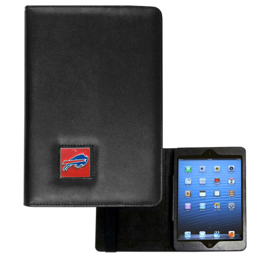 Buffalo Bills NFL iPad Mini Case - The perfect Buffalo Bills iPad mini accessory. The iPad mini slides easily into the inner sleeve that allows complete accessibility to all of the devices features and is the protected by the attractive out cover that can be secured closed or open while working with a simple stretch band. The great case features a cast and enameled NFL Buffalo Bills emblem. Officially licensed NFL product Licensee: Siskiyou Buckle .com