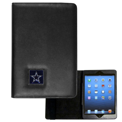 Dallas Cowboys NFL iPad Mini Case - The perfect Dallas Cowboys iPad mini accessory. The iPad mini slides easily into the inner sleeve that allows complete accessibility to all of the devices features and is the protected by the attractive out cover that can be secured closed or open while working with a simple stretch band. The great case features a cast and enameled NFL Dallas Cowboys emblem. Officially licensed NFL product Licensee: Siskiyou Buckle .com