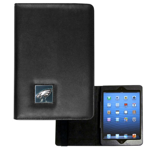 Philadelphia Eagles NFL iPad Mini Case - The perfect Philadelphia Eagles iPad mini accessory. The iPad mini slides easily into the inner sleeve that allows complete accessibility to all of the devices features and is the protected by the attractive out cover that can be secured closed or open while working with a simple stretch band. The great case features a cast and enameled NFL Philadelphia Eagles emblem. Officially licensed NFL product Licensee: Siskiyou Buckle .com