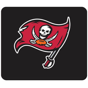 Buccaneers NFL Mouse Pad - Our quality NFL mouse pad features a silk screened Tampa Bay Buccaneers logo. Officially licensed NFL product Licensee: Siskiyou Buckle .com
