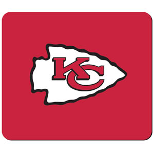 Chiefs NFL Mouse Pad - Our quality NFL mouse pad features a silk screened Kansas City Chiefs logo. Officially licensed NFL product Licensee: Siskiyou Buckle Thank you for visiting CrazedOutSports.com