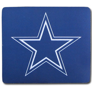 "NFL Mouse Pad - Dallas Cowboys - Our quality NFL mouse pad features a silk screened Dallas Cowboys logo. 8"" x 7"" Officially licensed NFL product Licensee: Siskiyou Buckle .com"