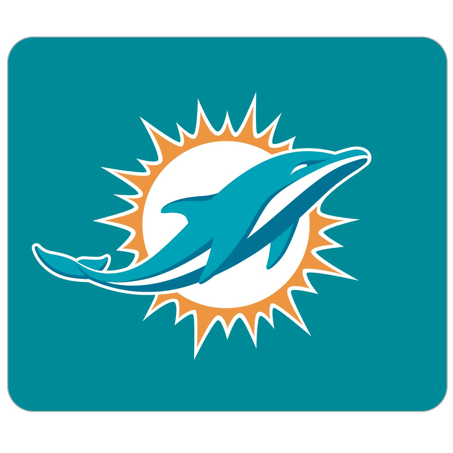 "NFL Mouse Pad - Miami Dolphins - Our quality NFL mouse pad features a silk screened Miami Dolphins logo. 8"" x 7"" Officially licensed NFL product Licensee: Siskiyou Buckle .com"
