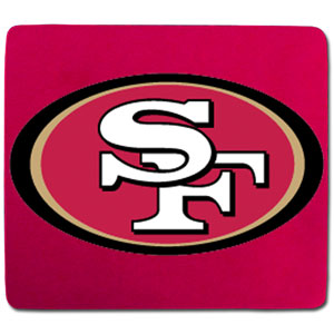 "NFL Mouse Pad - San Francisco 49ers - Our quality NFL mouse pad features a silk screened San Francisco 49ers logo. 8"" x 7"" Officially licensed NFL product Licensee: Siskiyou Buckle .com"
