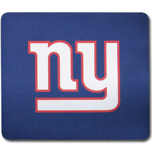 "NFL Mouse Pad - New York Giants - Our quality NFL mouse pad features a silk screened New York Giants logo. 8"" x 7"" Officially licensed NFL product Licensee: Siskiyou Buckle .com"