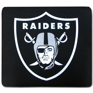 "NFL Mouse Pad - Oakland Raiders - Our quality NFL mouse pad features a silk screened Oakland Raiders logo. 8"" x 7"" Officially licensed NFL product Licensee: Siskiyou Buckle Thank you for visiting CrazedOutSports.com"