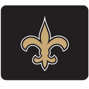 "NFL Mouse Pad - New Orleans Saints - High quality NFL mouse pad 8"" x 7"" made of durable neoprene. Officially licensed NFL product Licensee: Siskiyou Buckle .com"