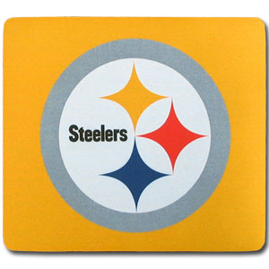 "NFL Mouse Pad - Pittsburgh Steelers - Our quality NFL mouse pad features a silk screened Pittsburgh Steelers logo. 8"" x 7"" Officially licensed NFL product Licensee: Siskiyou Buckle .com"