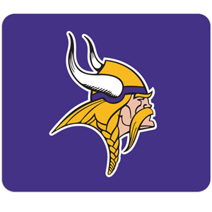 "NFL Mouse Pad - Minnesota Vikings - High quality NFL mouse pad 8"" x 7"" made of durable neoprene. Officially licensed NFL product Licensee: Siskiyou Buckle .com"