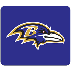 "NFL Mouse Pad - Baltimore Ravens - High quality NFL mouse pad 8"" x 7"" made of durable neoprene. Officially licensed NFL product Licensee: Siskiyou Buckle .com"