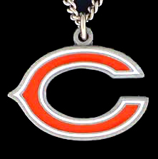 NFL Logo Necklace - Chicago Bears - Our NFL team logo pendant is carved in 3D detail and enameled in Chicago Bears team colors. Check out our entire line of licensed  NFL merchandise! Officially licensed NFL product Licensee: Siskiyou Buckle .com