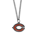 Chicago Bears Chain Necklace with Small Charm - Make a statement with our collegiate chain necklaces. The 20 inch chain features a fully cast, high polish Chicago Bears pendant with vivid enameled details. Perfect accessory for game day and nice enough to wear everyday! Officially licensed NFL product Licensee: Siskiyou Buckle .com