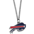 Buffalo Bills Chain Necklace with Small Charm - Make a statement with our collegiate chain necklaces. The 20 inch chain features a fully cast, high polish Buffalo Bills pendant with vivid enameled details. Perfect accessory for game day and nice enough to wear everyday! Officially licensed NFL product Licensee: Siskiyou Buckle .com