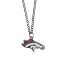 Denver Broncos Chain Necklace with Small Charm - Make a statement with our collegiate chain necklaces. The 20 inch chain features a fully cast, high polish Denver Broncos pendant with vivid enameled details. Perfect accessory for game day and nice enough to wear everyday! Officially licensed NFL product Licensee: Siskiyou Buckle Thank you for visiting CrazedOutSports.com