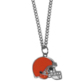 Cleveland Browns Chain Necklace with Small Charm - Make a statement with our collegiate chain necklaces. The 20 inch chain features a fully cast, high polish Cleveland Browns pendant with vivid enameled details. Perfect accessory for game day and nice enough to wear everyday! Officially licensed NFL product Licensee: Siskiyou Buckle Thank you for visiting CrazedOutSports.com