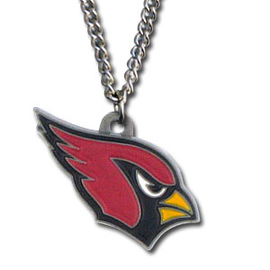 NFL Logo Necklace - Arizona Cardinals - Our NFL team logo pendant is carved in 3D detail and enameled in Arizona Cardinals team colors. Check out our entire line of licensed  NFL merchandise! Officially licensed NFL product Licensee: Siskiyou Buckle .com