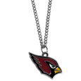 Arizona Cardinals Chain Necklace with Small Charm - Make a statement with our collegiate chain necklaces. The 20 inch chain features a fully cast, high polish Arizona Cardinals pendant with vivid enameled details. Perfect accessory for game day and nice enough to wear everyday! Officially licensed NFL product Licensee: Siskiyou Buckle .com
