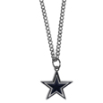 Dallas Cowboys Chain Necklace with Small Charm - Make a statement with our collegiate chain necklaces. The 20 inch chain features a fully cast, high polish Dallas Cowboys pendant with vivid enameled details. Perfect accessory for game day and nice enough to wear everyday! Officially licensed NFL product Licensee: Siskiyou Buckle .com