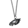 Philadelphia Eagles Chain Necklace with Small Charm - Make a statement with our collegiate chain necklaces. The 20 inch chain features a fully cast, high polish Philadelphia Eagles pendant with vivid enameled details. Perfect accessory for game day and nice enough to wear everyday! Officially licensed NFL product Licensee: Siskiyou Buckle .com