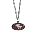 San Francisco 49ers Chain Necklace with Small Charm - Make a statement with our collegiate chain necklaces. The 20 inch chain features a fully cast, high polish San Francisco 49ers pendant with vivid enameled details. Perfect accessory for game day and nice enough to wear everyday! Officially licensed NFL product Licensee: Siskiyou Buckle Thank you for visiting CrazedOutSports.com