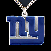 NFL Logo Necklace - New York Giants - Our NFL team logo pendant is carved in 3D detail and enameled in New York Giants team colors. Check out our entire line of licensed  NFL merchandise! Officially licensed NFL product Licensee: Siskiyou Buckle .com