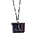 New York Giants Chain Necklace with Small Charm - Make a statement with our collegiate chain necklaces. The 20 inch chain features a fully cast, high polish New York Giants pendant with vivid enameled details. Perfect accessory for game day and nice enough to wear everyday! Officially licensed NFL product Licensee: Siskiyou Buckle .com