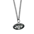 New York Jets Chain Necklace with Small Charm - Make a statement with our collegiate chain necklaces. The 20 inch chain features a fully cast, high polish New York Jets pendant with vivid enameled details. Perfect accessory for game day and nice enough to wear everyday! Officially licensed NFL product Licensee: Siskiyou Buckle .com