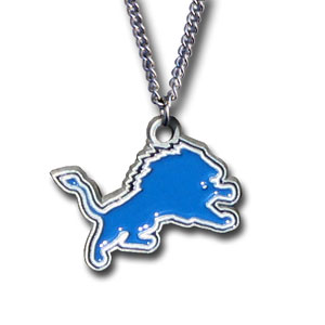 NFL Logo Necklace - Detroit Lions - Our NFL team logo pendant is carved in 3D detail and enameled in the team colors. Check out our entire line of  NFL jewelry! Officially licensed NFL product Licensee: Siskiyou Buckle .com