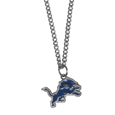 Detroit Lions Chain Necklace with Small Charm - Make a statement with our collegiate chain necklaces. The 20 inch chain features a fully cast, high polish Detroit Lions pendant with vivid enameled details. Perfect accessory for game day and nice enough to wear everyday! Officially licensed NFL product Licensee: Siskiyou Buckle .com