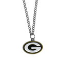 Green Bay Packers Chain Necklace with Small Charm - Make a statement with our collegiate chain necklaces. The 20 inch chain features a fully cast, high polish Green Bay Packers pendant with vivid enameled details. Perfect accessory for game day and nice enough to wear everyday! Officially licensed NFL product Licensee: Siskiyou Buckle .com