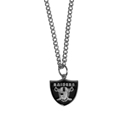 Oakland Raiders Chain Necklace with Small Charm - Make a statement with our collegiate chain necklaces. The 20 inch chain features a fully cast, high polish Oakland Raiders pendant with vivid enameled details. Perfect accessory for game day and nice enough to wear everyday! Officially licensed NFL product Licensee: Siskiyou Buckle Thank you for visiting CrazedOutSports.com