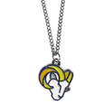 St. Louis Rams Chain Necklace with Small Charm - Make a statement with our collegiate chain necklaces. The 20 inch chain features a fully cast, high polish St. Louis Rams pendant with vivid enameled details. Perfect accessory for game day and nice enough to wear everyday! Officially licensed NFL product Licensee: Siskiyou Buckle .com