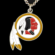 NFL Logo Necklace - Washington Redskins - Our NFL team logo pendant is carved in 3D detail and enameled in Washington Redskins team colors. Check out our entire line of licensed  NFL merchandise! Officially licensed NFL product Licensee: Siskiyou Buckle Thank you for visiting CrazedOutSports.com