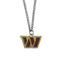 Washington Redskins Chain Necklace with Small Charm - Make a statement with our collegiate chain necklaces. The 20 inch chain features a fully cast, high polish Washington Redskins pendant with vivid enameled details. Perfect accessory for game day and nice enough to wear everyday! Officially licensed NFL product Licensee: Siskiyou Buckle Thank you for visiting CrazedOutSports.com