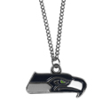Seattle Seahawks Chain Necklace with Small Charm - Make a statement with our collegiate chain necklaces. The 20 inch chain features a fully cast, high polish Seattle Seahawks pendant with vivid enameled details. Perfect accessory for game day and nice enough to wear everyday! Officially licensed NFL product Licensee: Siskiyou Buckle .com