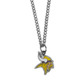Minnesota Vikings Chain Necklace with Small Charm - Make a statement with our collegiate chain necklaces. The 20 inch chain features a fully cast, high polish Minnesota Vikings pendant with vivid enameled details. Perfect accessory for game day and nice enough to wear everyday! Officially licensed NFL product Licensee: Siskiyou Buckle .com