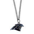 Carolina Panthers Chain Necklace with Small Charm - Make a statement with our collegiate chain necklaces. The 20 inch chain features a fully cast, high polish Carolina Panthers pendant with vivid enameled details. Perfect accessory for game day and nice enough to wear everyday! Officially licensed NFL product Licensee: Siskiyou Buckle Thank you for visiting CrazedOutSports.com