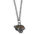 Jacksonville Jaguars Chain Necklace with Small Charm - Make a statement with our collegiate chain necklaces. The 20 inch chain features a fully cast, high polish Jacksonville Jaguars pendant with vivid enameled details. Perfect accessory for game day and nice enough to wear everyday! Officially licensed NFL product Licensee: Siskiyou Buckle Thank you for visiting CrazedOutSports.com