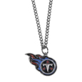 Tennessee Titans Chain Necklace with Small Charm - Make a statement with our collegiate chain necklaces. The 20 inch chain features a fully cast, high polish Tennessee Titans pendant with vivid enameled details. Perfect accessory for game day and nice enough to wear everyday! Officially licensed NFL product Licensee: Siskiyou Buckle .com