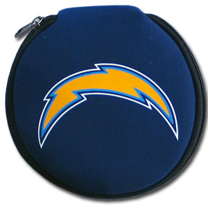 NFL CD/Blue Ray/DVD Case - Los Angeles Chargers - Our NFL neoprene CD/Blue Ray/DVD zippered cases feature the Los Angeles Chargers logo and fit 12 discs. Officially licensed NFL product Licensee: Siskiyou Buckle .com