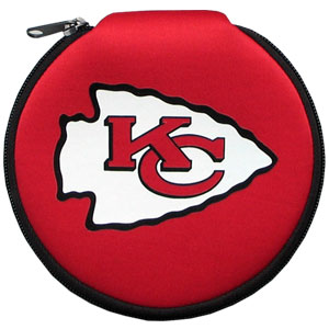 NFL CD/Blue Ray/DVD Case - Kansas City Chiefs - Our NFL neoprene CD/Blue Ray/DVD zippered cases feature the team logo and fit 12 discs. Officially licensed NFL product Licensee: Siskiyou Buckle Thank you for visiting CrazedOutSports.com