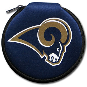 NFL CD/Blue Ray/DVD Case - St. Louis Rams - Our NFL neoprene CD/Blue Ray/DVD zippered cases features the team Arizona Cardinals and fit 12 discs. Officially licensed NFL product Licensee: Siskiyou Buckle .com