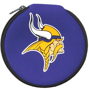 NFL CD/Blue Ray/DVD Case - Minnesota Vikings - Our NFL neoprene CD/Blue Ray/DVD zippered cases feature the team logo and fit 12 discs. Officially licensed NFL product Licensee: Siskiyou Buckle .com