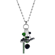 Seattle Seahawks Cluster Necklace - Our trendy cluster necklace makes a big statement with a 30 inch, silver plated, link chain that features a stylish cluster of Seattle Seahawks charms that hang an additional 4 inches off of the chain. This bold fashion jewelry piece has 4 chain lenghts in the cluster that have alternating color bauble beads and 2 metal team charms, one with crystals and a long bar charm with the team name.
