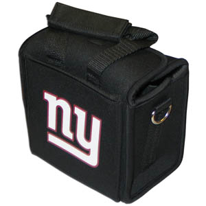 New York Giants Neoprene Can Tote - This quality NFL New York Giants neoprene can tote holds 6 standard aluminum cans with handy flexible interior dividers. The tote features a comfort handle and silk screened New York Giants team logo. Officially licensed NFL product Licensee: Siskiyou Buckle Thank you for visiting CrazedOutSports.com