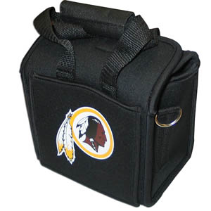 Washington Redskins Neoprene Can Tote - This quality NFL Washington Redskins neoprene can tote holds 6 standard aluminum cans with handy flexible interior dividers. The tote features a comfort handle and silk screened Washington Redskins team logo. Officially licensed NFL product Licensee: Siskiyou Buckle Thank you for visiting CrazedOutSports.com