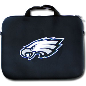 "Philadelphia Eagles Laptop Bag - Our Philadelphia Eagles neoprene laptop bags is designed to fit 15"" and most 17"" laptops and are approved to pass airport security without removing the equipment from the bag. Some 17"" laptops are designed with a wider border and may not fit this bag. (inner bag dimensions: 11 ¾""t x 15""w) Officially licensed NFL product Licensee: Siskiyou Buckle Thank you for visiting CrazedOutSports.com"
