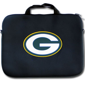 "Green Bay Packers Laptop Bag - Our Green Bay Packers neoprene laptop bags is designed to fit 15"" and most 17"" laptops and are approved to pass airport security without removing the equipment from the bag. Some 17"" laptops are designed with a wider border and may not fit this bag. (inner bag dimensions: 11 ¾""t x 15""w) Officially licensed NFL product Licensee: Siskiyou Buckle Thank you for visiting CrazedOutSports.com"