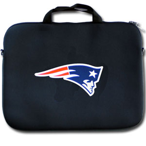 "New England Patriots Laptop Bag - Our New England Patriots neoprene laptop bags is designed to fit 15"" and most 17"" laptops and are approved to pass airport security without removing the equipment from the bag. Some 17"" laptops are designed with a wider border and may not fit this bag. (inner bag dimensions: 11 ¾""t x 15""w) Officially licensed NFL product Licensee: Siskiyou Buckle .com"